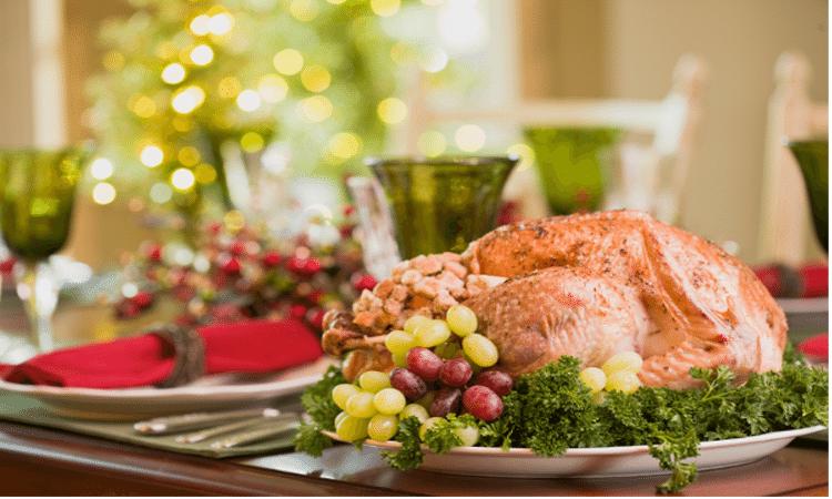 prepared turkey on holiday table