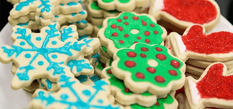 holiday baking, christmas baking, decorated sugar cookies