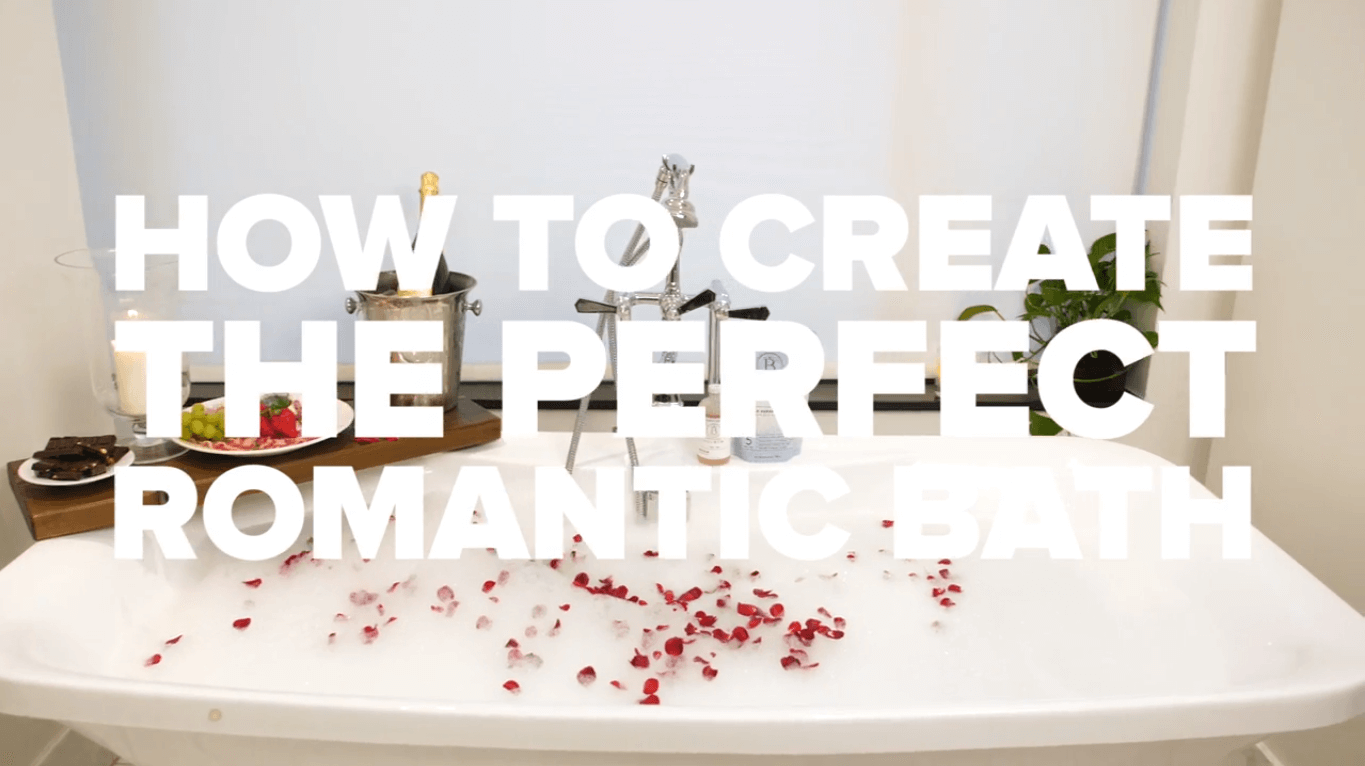 how to create the perfect romantic bath