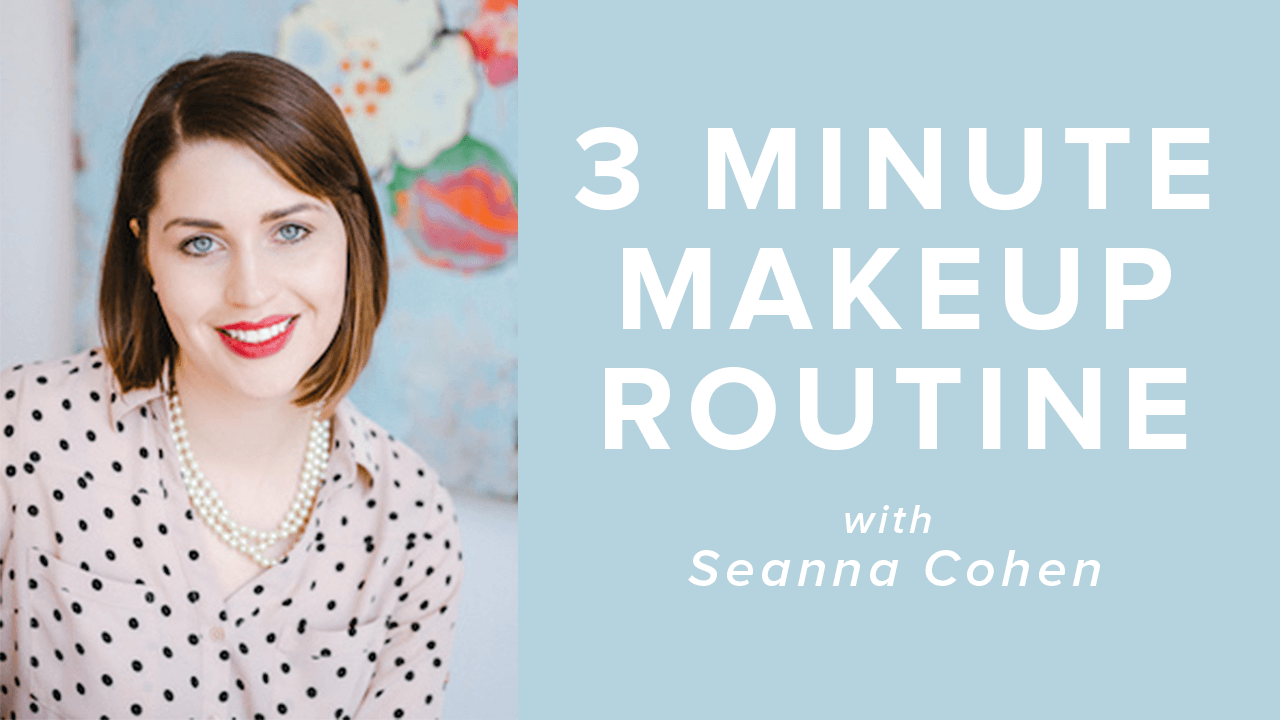 3 minute makeup routine thumbnail