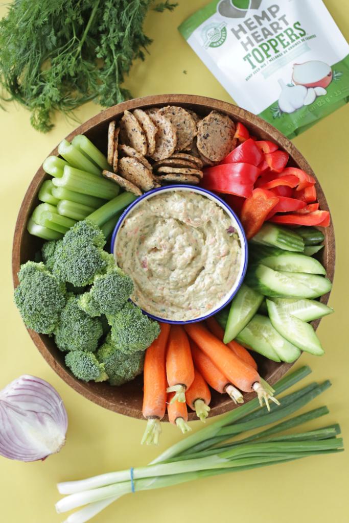 The Best Garden Vegetable Dip from Health Nut Nutrition