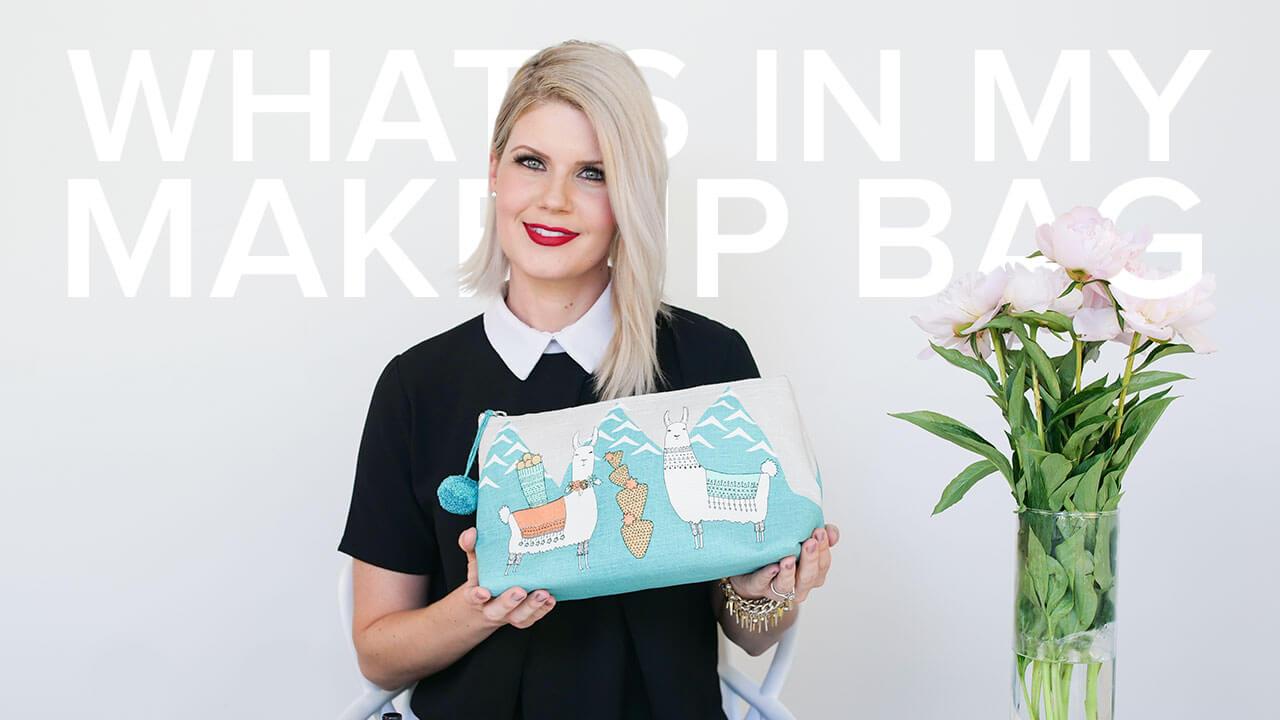 what's in a makeup artist's makeup bag thumbnail