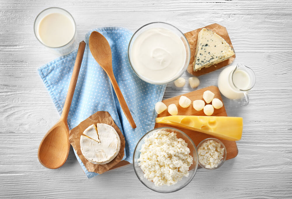 Different types of dairy products