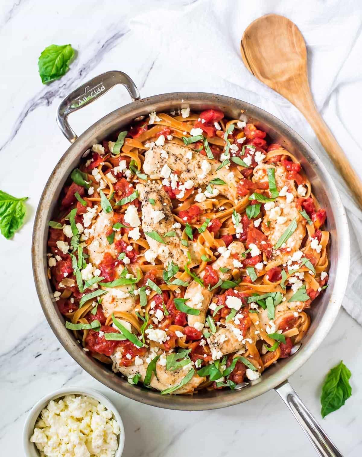 Tomato-Basil-Chicken-Pasta-with-Feta