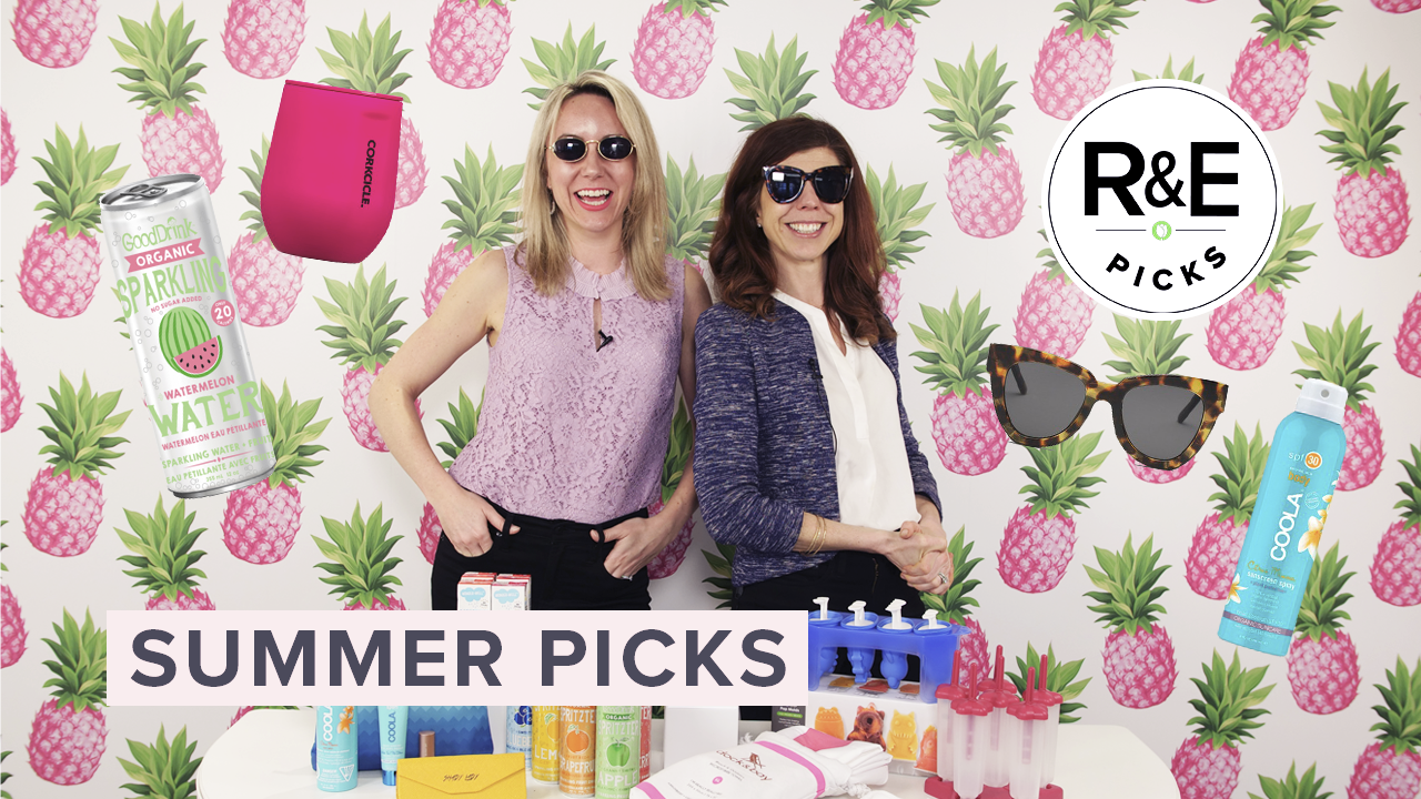 two women surrounded by summer picks